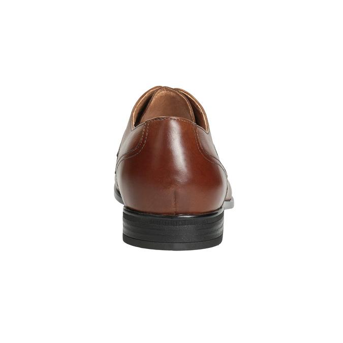 Pánské kožené polobotky hnědé bata, hnědá, 826-3758 - 15