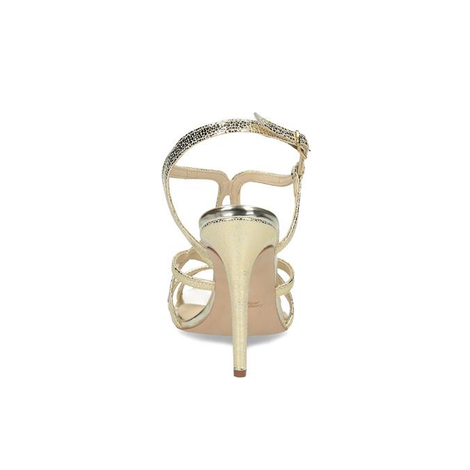 Zlaté společenské sandály z kůže bata, 726-8648 - 15