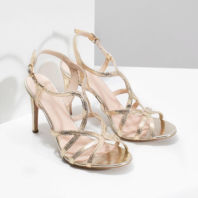 e4ecf8d2783b Baťa Zlaté společenské sandály z kůže - Bestsellers