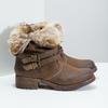 Dámská kotníčková obuv s kožíškem bata, hnědá, 591-4601 - 16