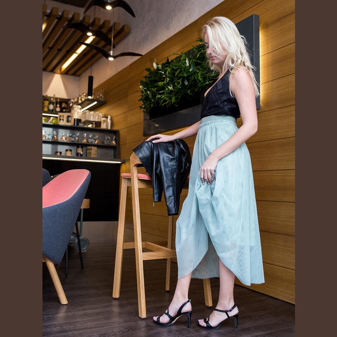 Dámské společenské sandály s kamínky bata, černá, 729-6611 - 18