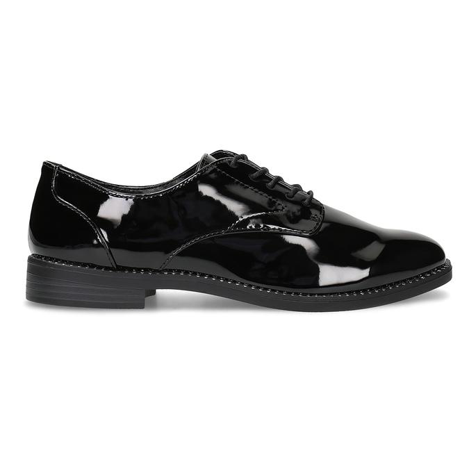Dámské lakované polobotky bata, černá, 521-6608 - 19