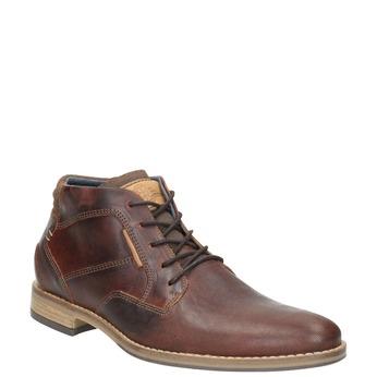 Pánská kožená kotníčková obuv bata, hnědá, 826-3926 - 13