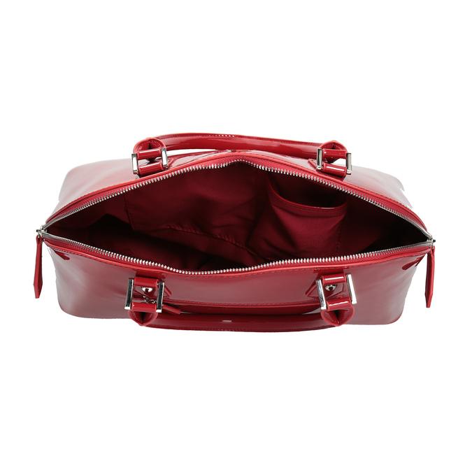 Červená lakovaná kabelka bata, červená, 961-5849 - 15