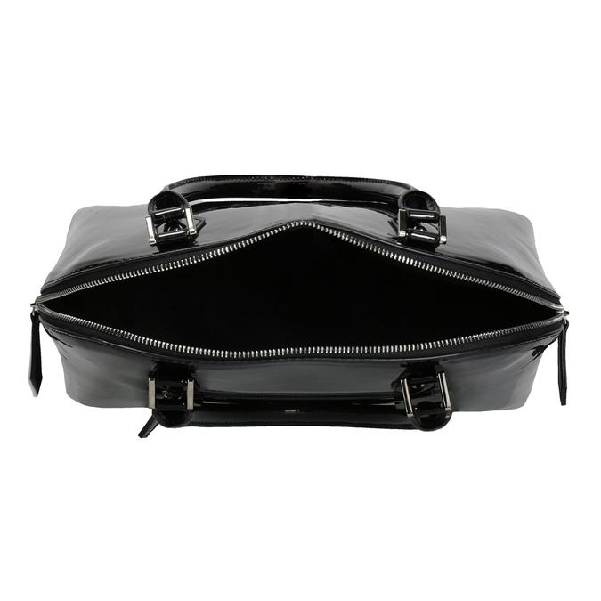 Černá lakovaná kabelka bata, černá, 961-6849 - 15