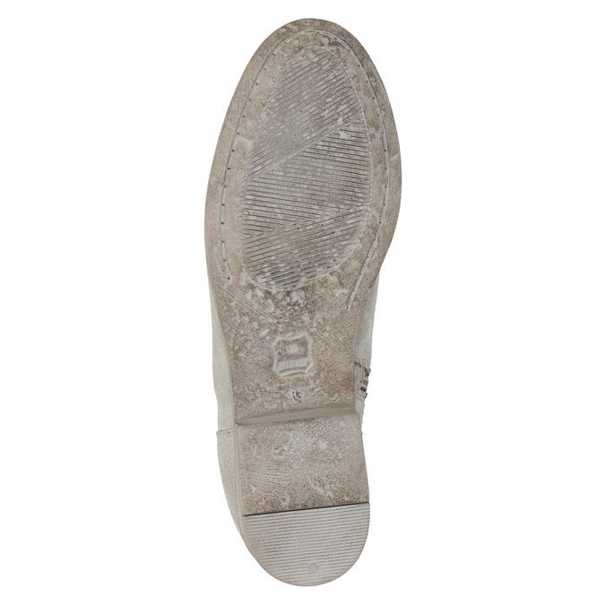 Kotníkové kozačky s výšivkou bata, šedá, 596-2686 - 19