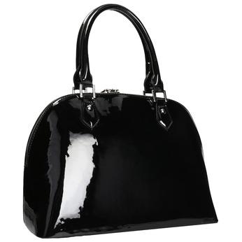 Černá lakovaná kabelka bata, černá, 961-6849 - 13