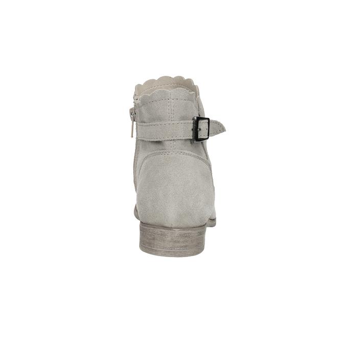 Kotníkové kozačky s výšivkou bata, šedá, 596-2686 - 15