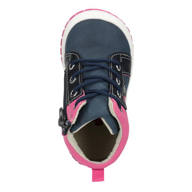 Kotníčková obuv s výraznou podešví bubblegummers, modrá, 121-9619 - 15