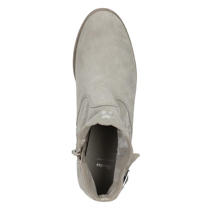 Kotníkové kozačky s výšivkou bata, šedá, 596-2686 - 17