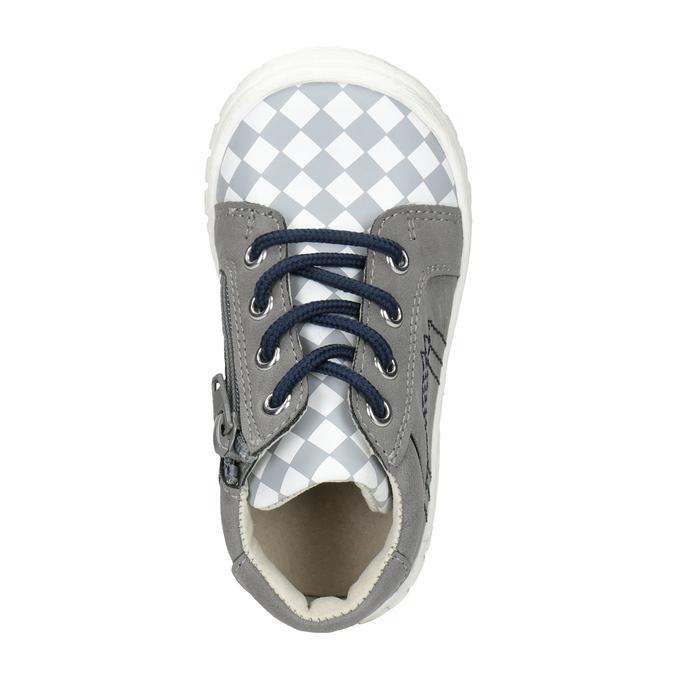 Dětská kotníčková obuv bubblegummers, šedá, 111-2626 - 15