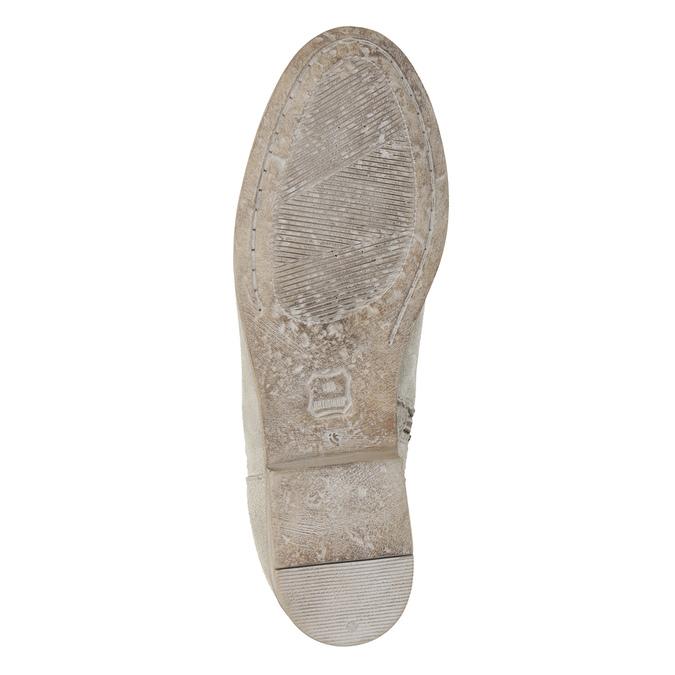 Kozačky s výšivkou a kamínky bata, šedá, 596-2687 - 19
