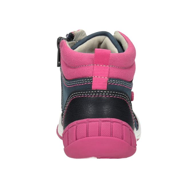 Kotníčková obuv s výraznou podešví bubblegummers, modrá, 121-9619 - 16