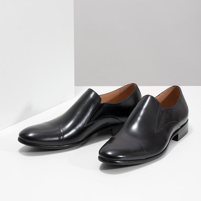 Pánské kožené mokasíny bata, černá, 814-6626 - 16