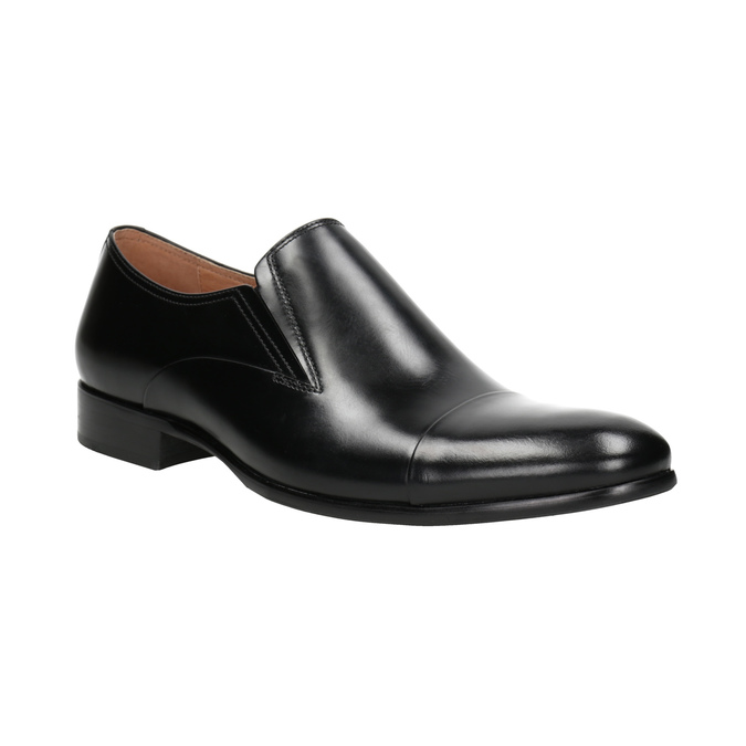 Pánské kožené mokasíny bata, černá, 814-6626 - 13