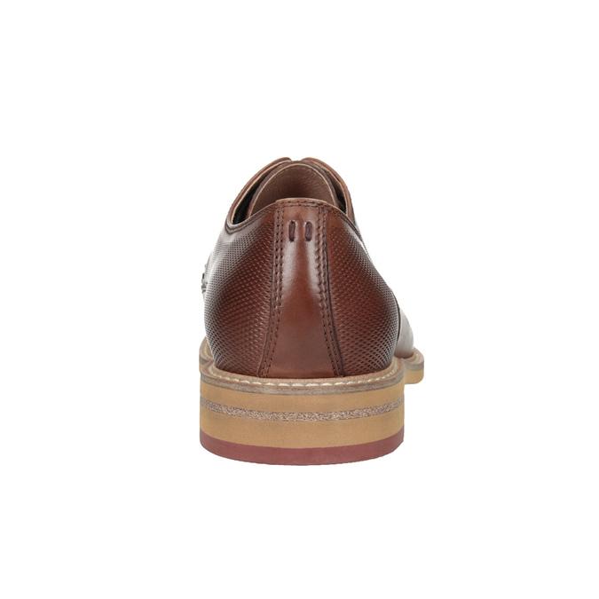 Kožené ležérní polobotky hnědé bata, hnědá, 826-3853 - 16