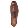 Hnědé kožené polobotky pánské bata, hnědá, 826-3997 - 15