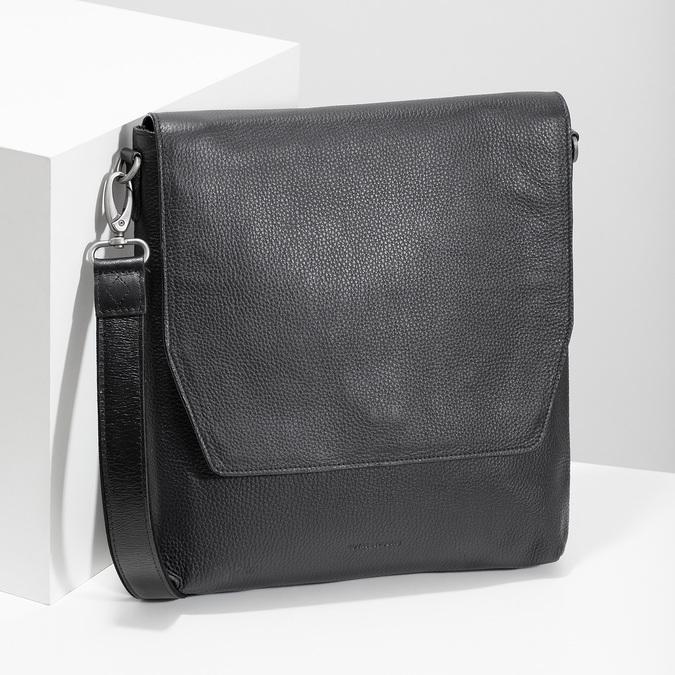 Kožená Crossbody taška royal-republiq, černá, 964-6093 - 17