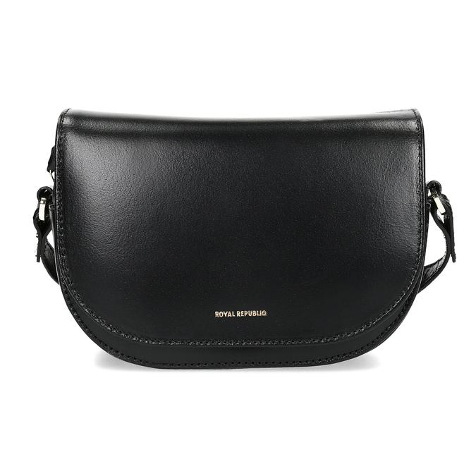 Kožená kabelka s klopou royal-republiq, černá, 964-6084 - 26