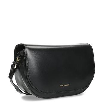Kožená kabelka s klopou royal-republiq, černá, 964-6084 - 13