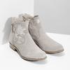 Kotníkové kozačky s výšivkou bata, šedá, 596-2686 - 26