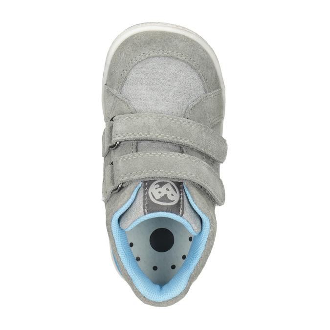 Kožená dětská kotníčková obuv bubblegummers, šedá, 113-2603 - 15