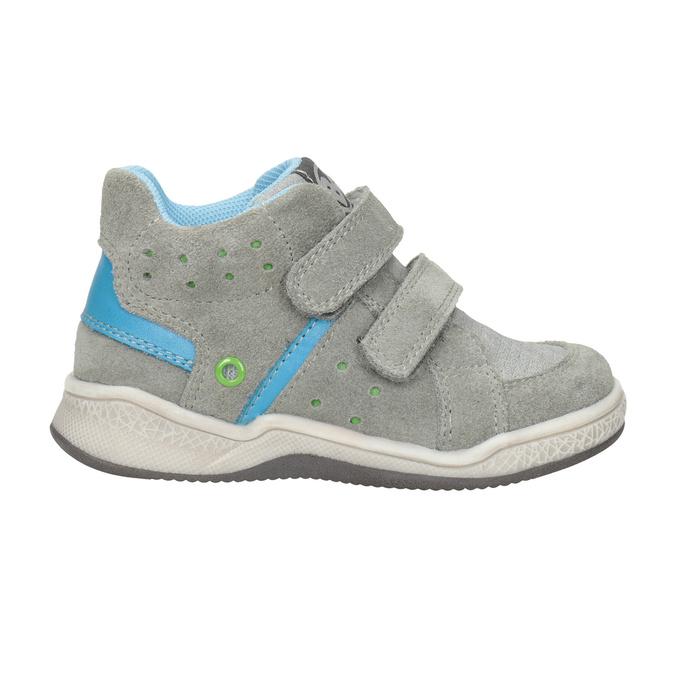 Kožená dětská kotníčková obuv bubblegummers, šedá, 113-2603 - 26