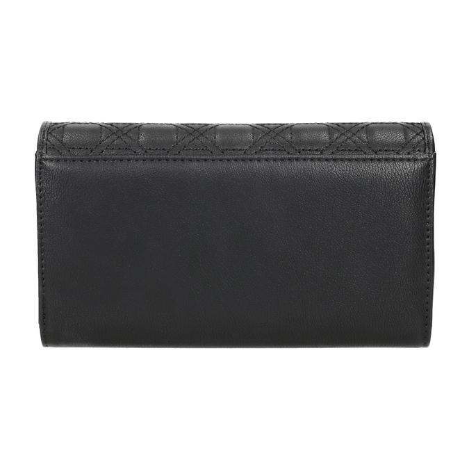 Dámská peněženka s prošitím bata, černá, 941-6169 - 16