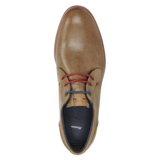 Kožené polobotky s barevnými tkaničkami bata, hnědá, 826-4928 - 15