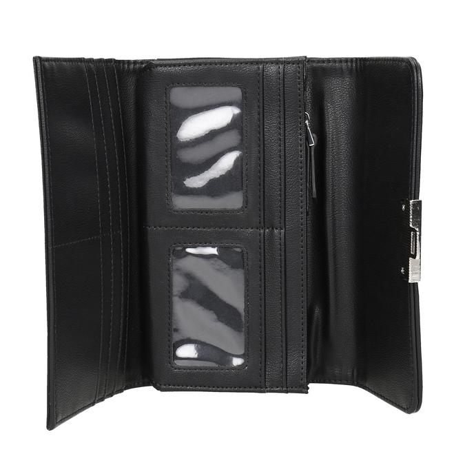 Dámská peněženka s prošitím bata, černá, 941-6169 - 15