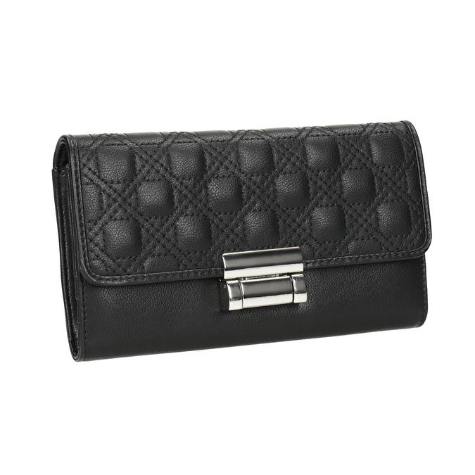 Dámská peněženka s prošitím bata, černá, 941-6169 - 13