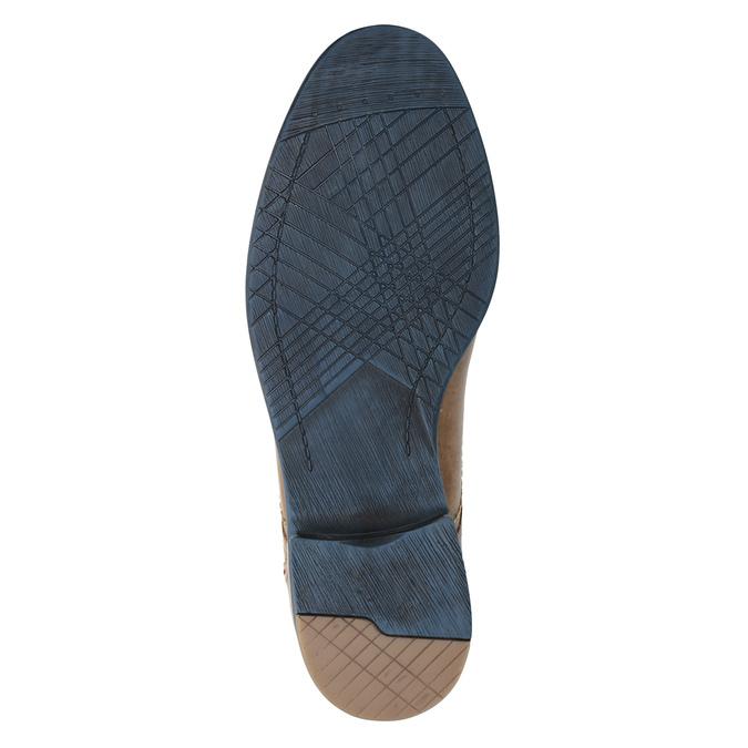 Kožené polobotky s barevnými tkaničkami bata, hnědá, 826-4928 - 17