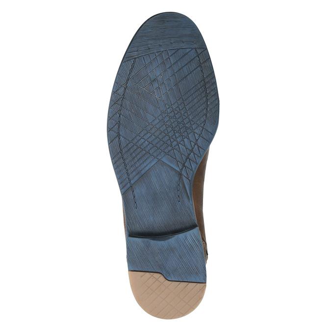 Hnědé kožené polobotky v ležérním stylu bata, hnědá, 826-4929 - 17