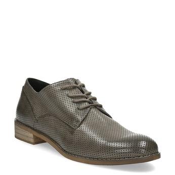 Dámské polobotky s perforací bata, šedá, 521-2609 - 13