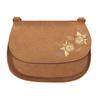 Crossbody kabelka s výšivkou bata, hnědá, 969-4686 - 26