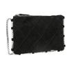 Kožená kabelka s prošíváním bata, černá, 963-6193 - 13