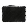 Kožená kabelka s prošíváním bata, černá, 963-6193 - 26