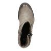 Kožené kotníčkové kozačky s přezkou bata, béžová, 696-2621 - 19