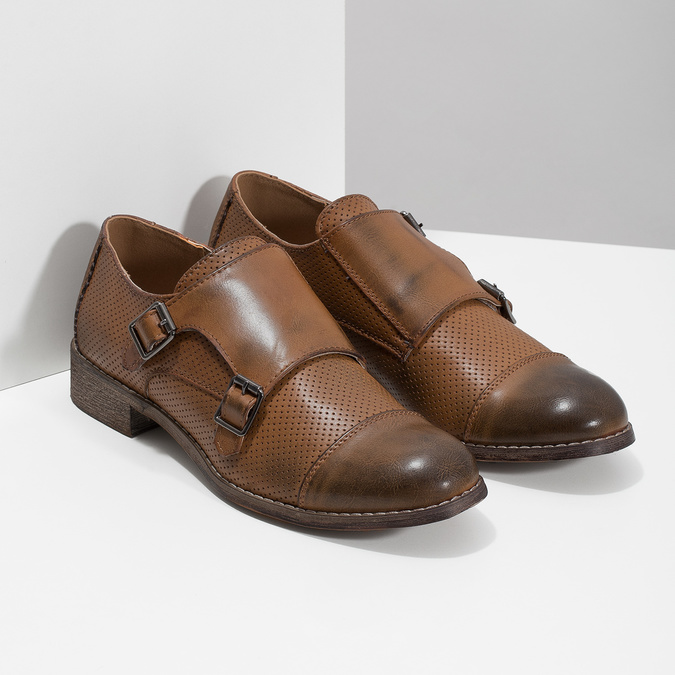 Dámské Monk Shoes bata, hnědá, 521-4609 - 26