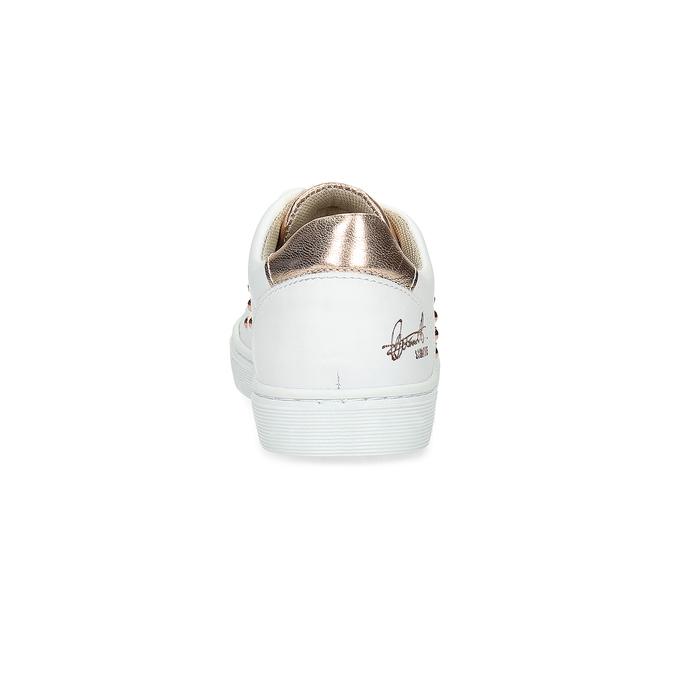 Dětské kožené tenisky se cvoky mini-b, bílá, 324-1605 - 15