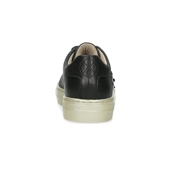 Kožené tenisky s květinovou aplikací mini-b, černá, 324-6606 - 15