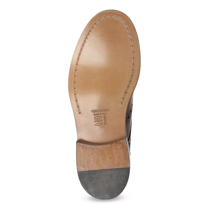 Kožené pánské Brogue polobotky bata, hnědá, 826-4827 - 18