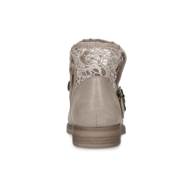 Dámské kozačky s krajkou bata, béžová, 591-2628 - 15