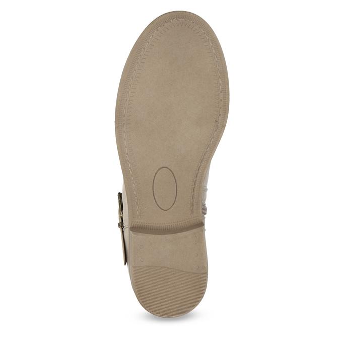 Dámské kozačky s krajkou bata, béžová, 591-2628 - 18