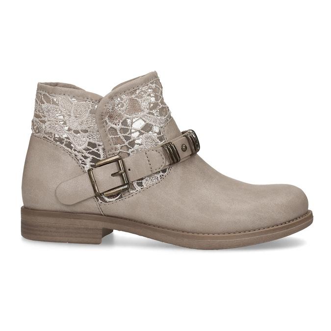 Dámské kozačky s krajkou bata, béžová, 591-2628 - 19