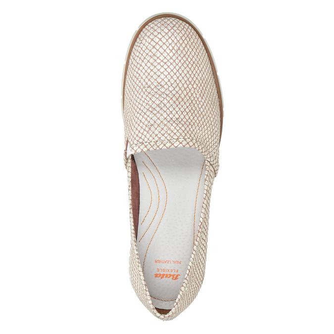 Dámské kožené Slip-on boty na výrazné podešvi flexible, 536-5603 - 17