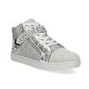 Stříbrné dívčí tenisky s kamínky mini-b, stříbrná, 329-2301 - 13