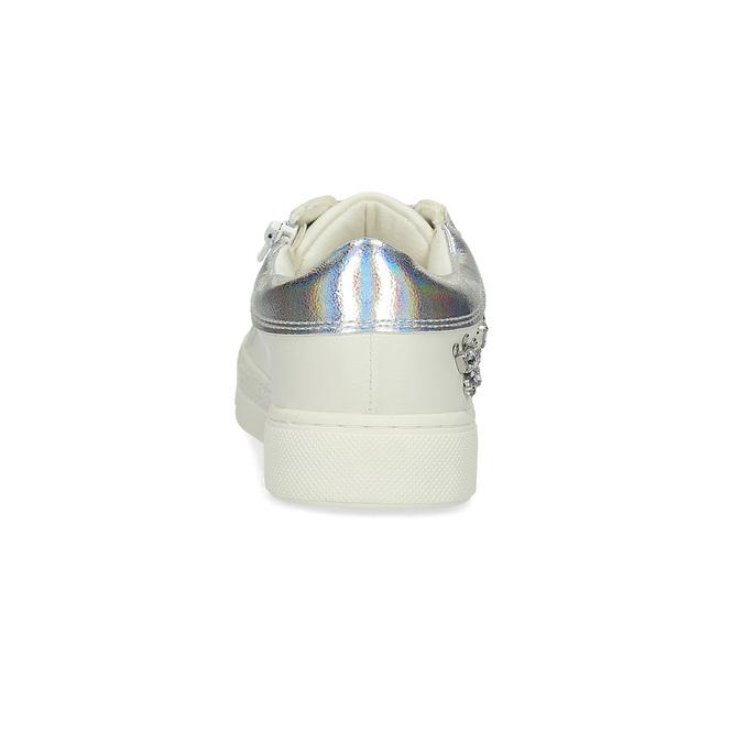 Dívčí tenisky s kamínky mini-b, bílá, 321-1304 - 15