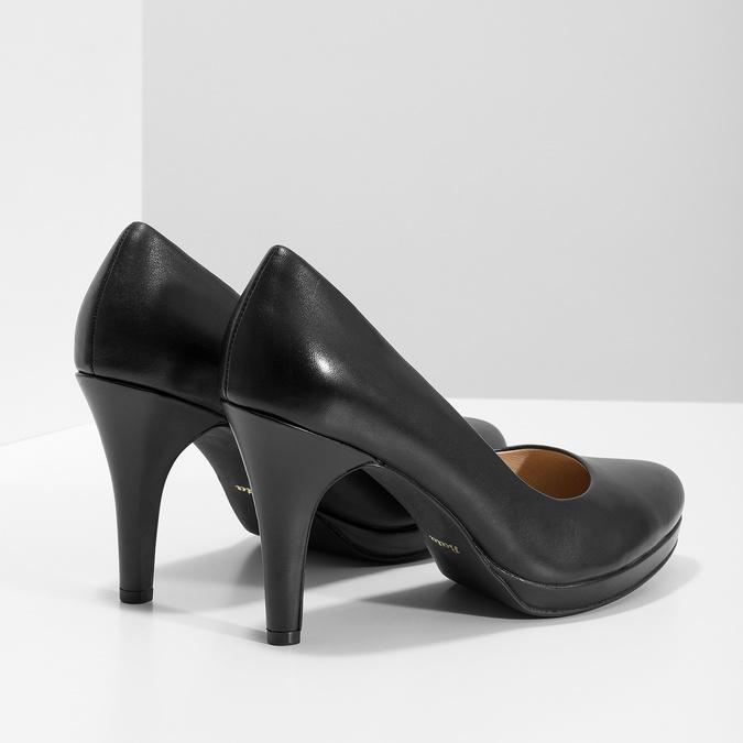 Černé kožené lodičky insolia, černá, 724-6104 - 16