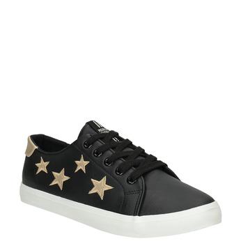 Dámské tenisky s hvězdičkami north-star, černá, 541-6601 - 13